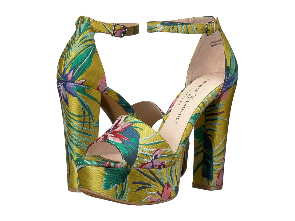 Chinese Laundry Avenue 2 (Yellow Lotus Print) High Heels