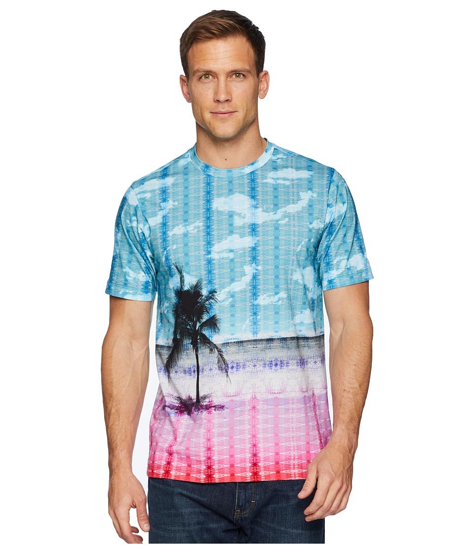 BUGATCHI - Short Sleeve Crew Neck T-Shirt (White) Mens T Shirt