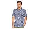 BUGATCHI Shaped Fit Indigo Paisley Woven Shirt