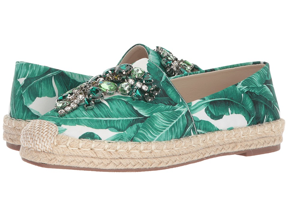 Chinese Laundry Hayden Flat (Green Floral Print) Women