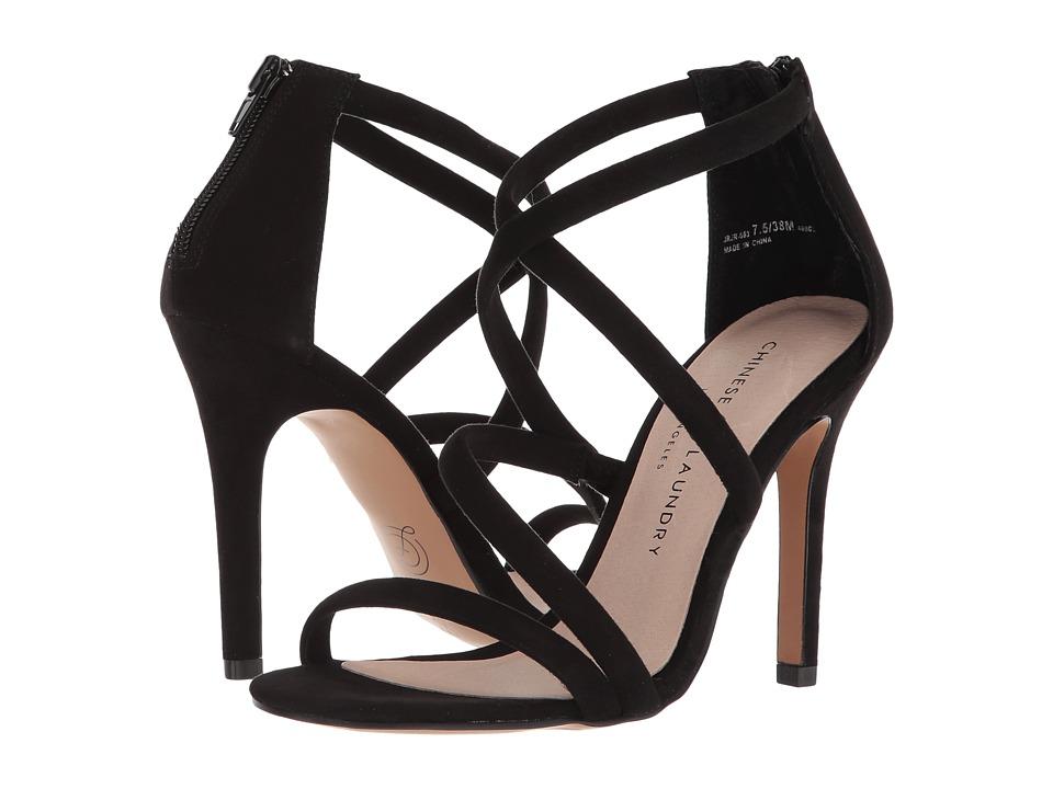 Chinese Laundry Jillian (Black Microsuede) High Heels
