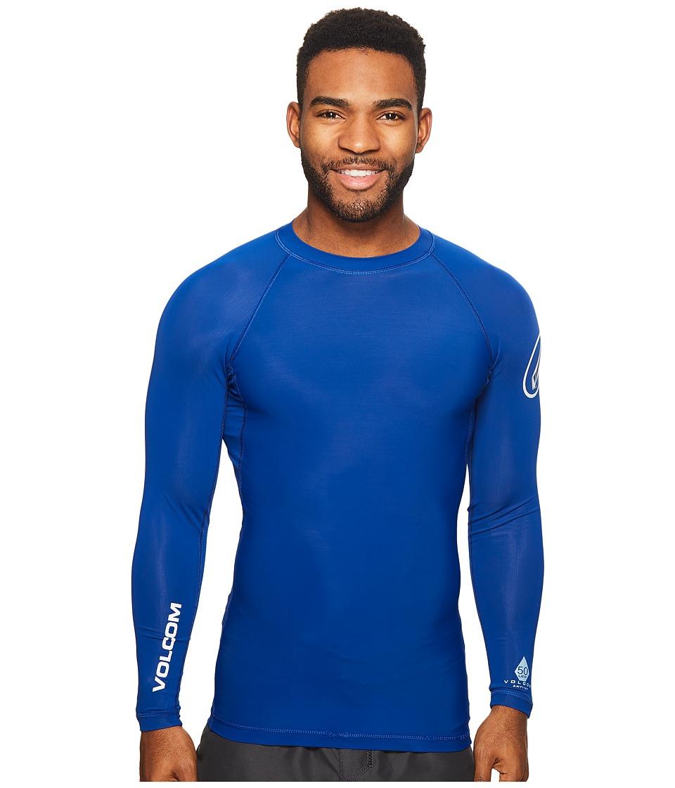 Volcom - Lido Solid Long Sleeve (Camper Blue) Mens Clothing