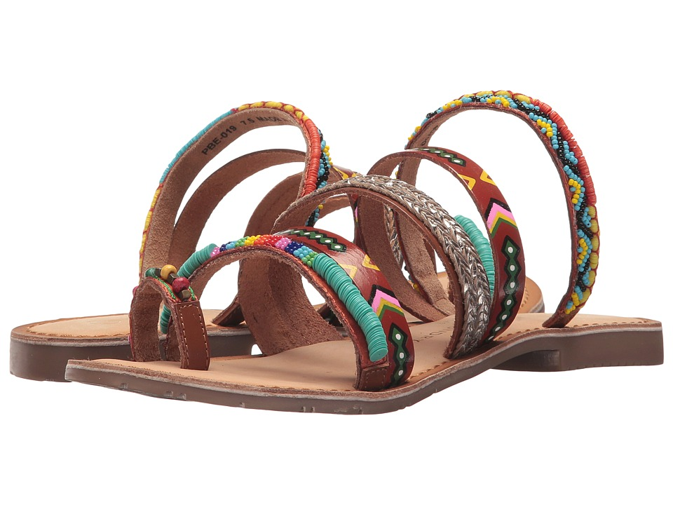 Chinese Laundry - Pandora Sandal (Tan Multi Leather) Womens Sandals