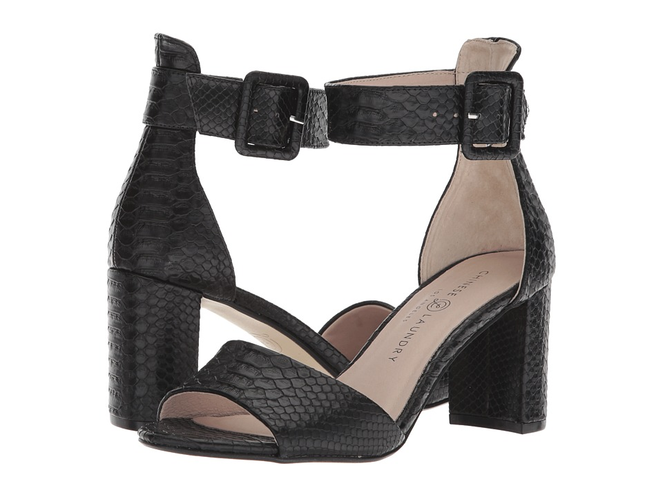 Chinese Laundry - Rumor (Black Snake) High Heels