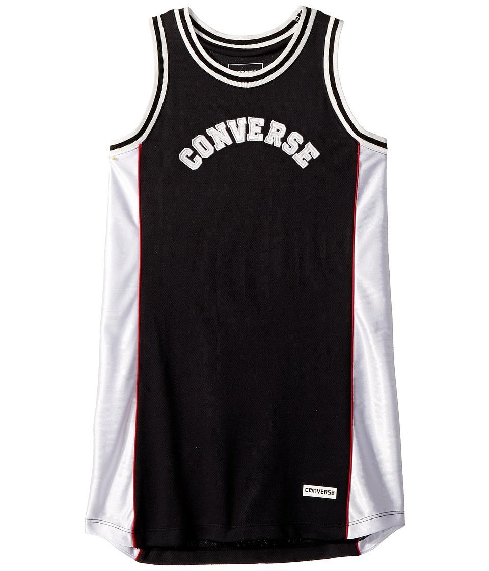 Converse Kids - Basketball Jersey Dress (Little Kids) (Black) Girls Dress