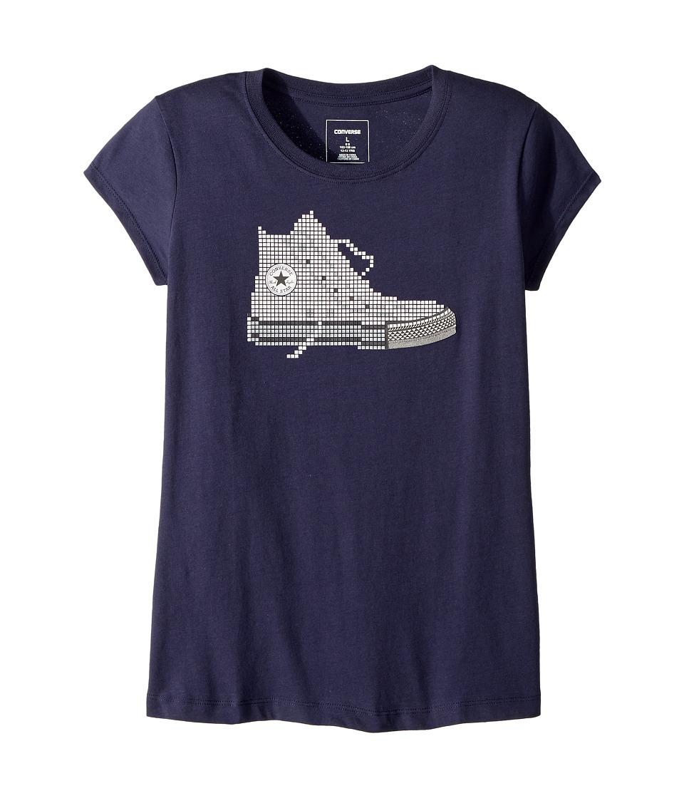 Converse Kids - Pixel Chuck Tee (Big Kids) (Obsidian) Girls T Shirt
