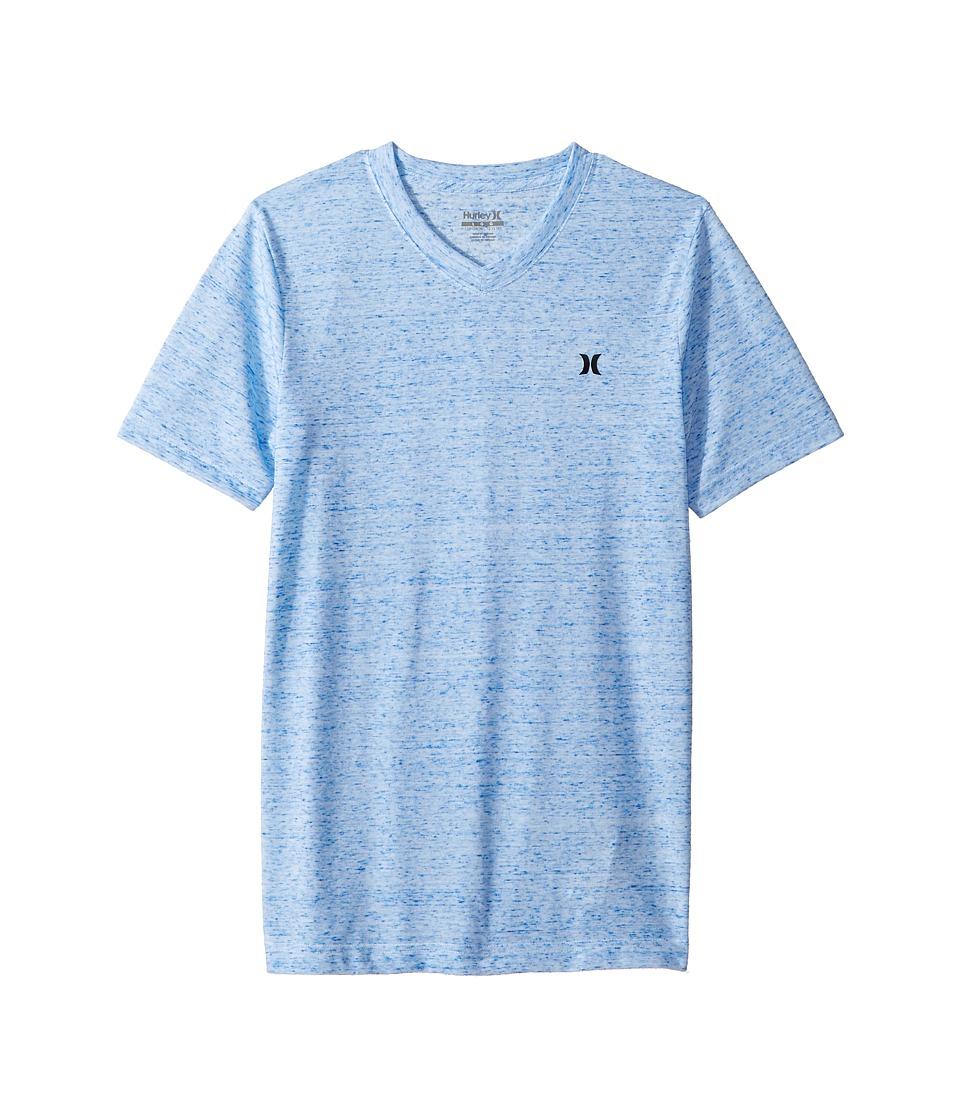 Hurley Kids - Cloud Slub Staple V-Neck Tee (Big Kids) (Pool Blue) Boys T Shirt