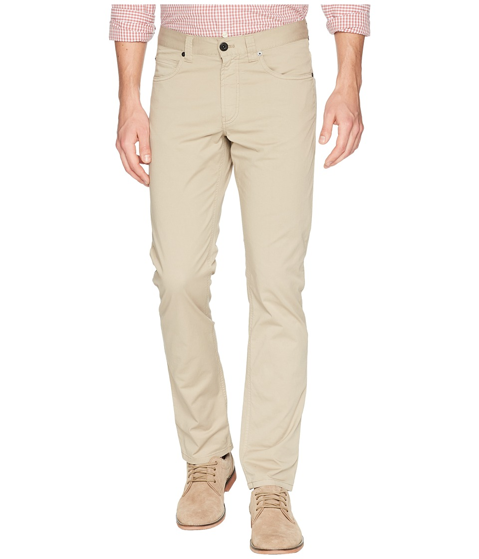 BUGATCHI - Five-Pocket Pants (Beige) Mens Casual Pants