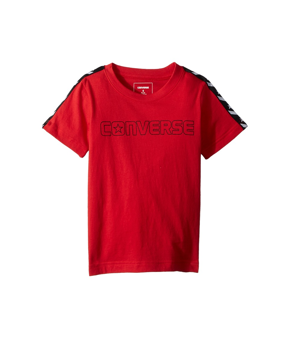Converse Kids - Star Chevron Wordmark Tee (Little Kids) (Red) Boys Clothing