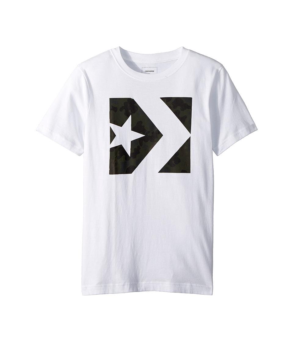 Converse Kids - Seasonal Star Chevron Tee (Big Kids) (White) Boys T Shirt