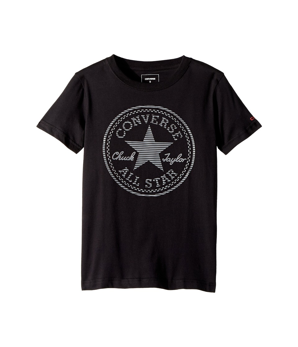 Converse Kids - Color Reveal Chuck Patch Tee (Big Kids) (Black) Boys T Shirt