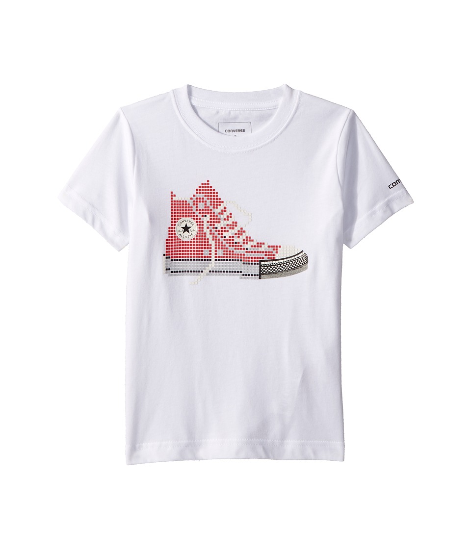 Converse Kids - Pixel Chuck Tee (Little Kids) (White) Boys T Shirt