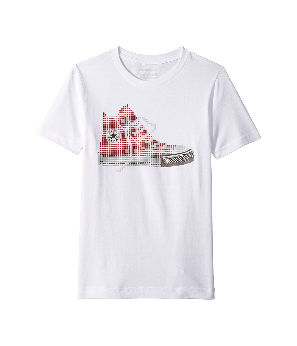 Converse Kids - Pixel Chuck Tee (Big Kids) (White) Boys T Shirt