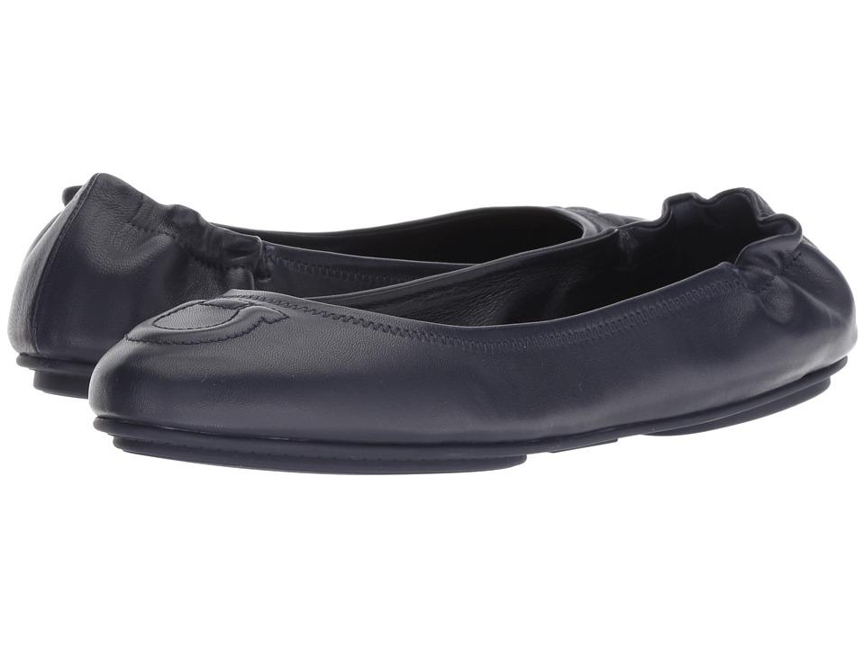 Salvatore Ferragamo Vignola (Navy) Women's Dress Flat Shoes