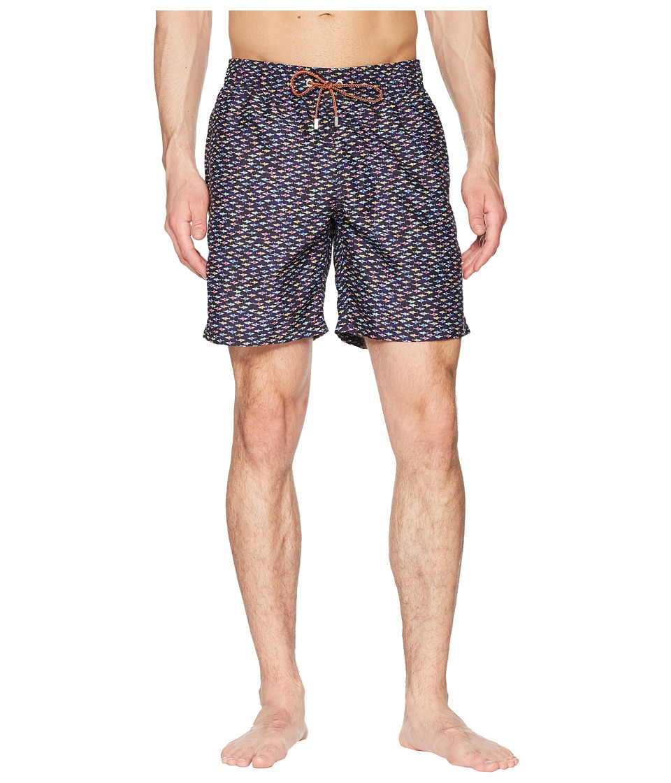BUGATCHI - Swimwear JXM193M12 (Navy) Mens Swimwear