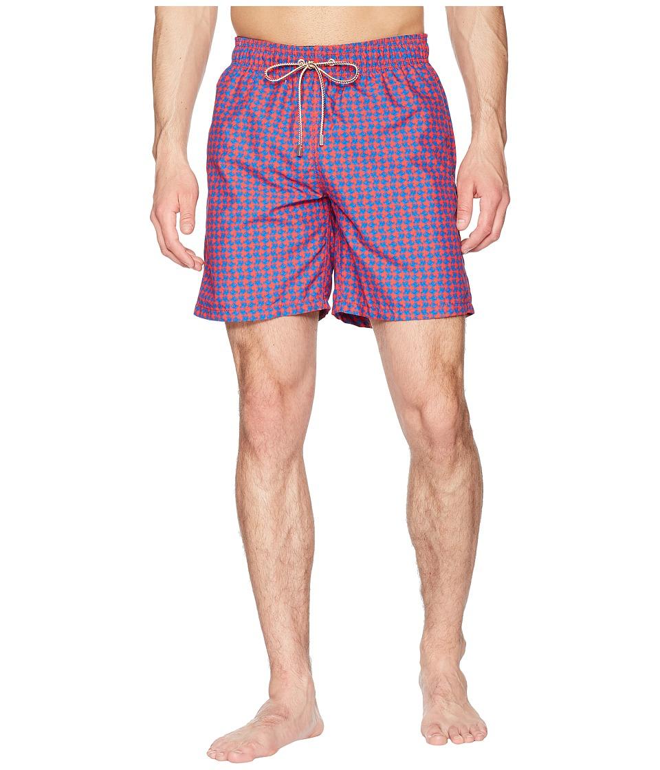 BUGATCHI - Fishy Swim Trunk (Cherry) Mens Swimwear