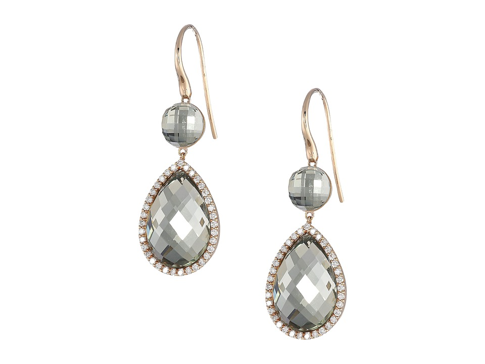 Roberto Coin Cocktail Collection Earrings 18Kt (Green Ame...