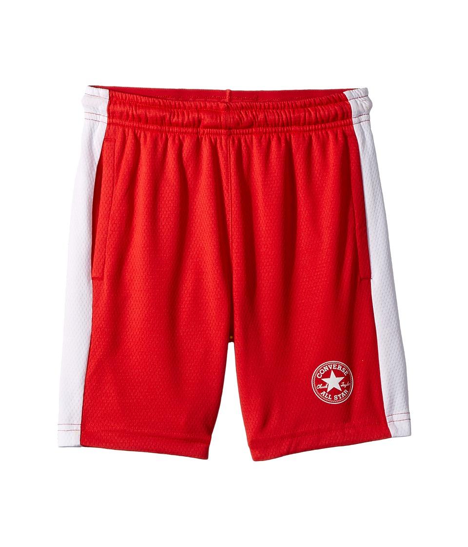Converse Kids - Mesh Shorts (Big Kids) (Red) Boys Shorts