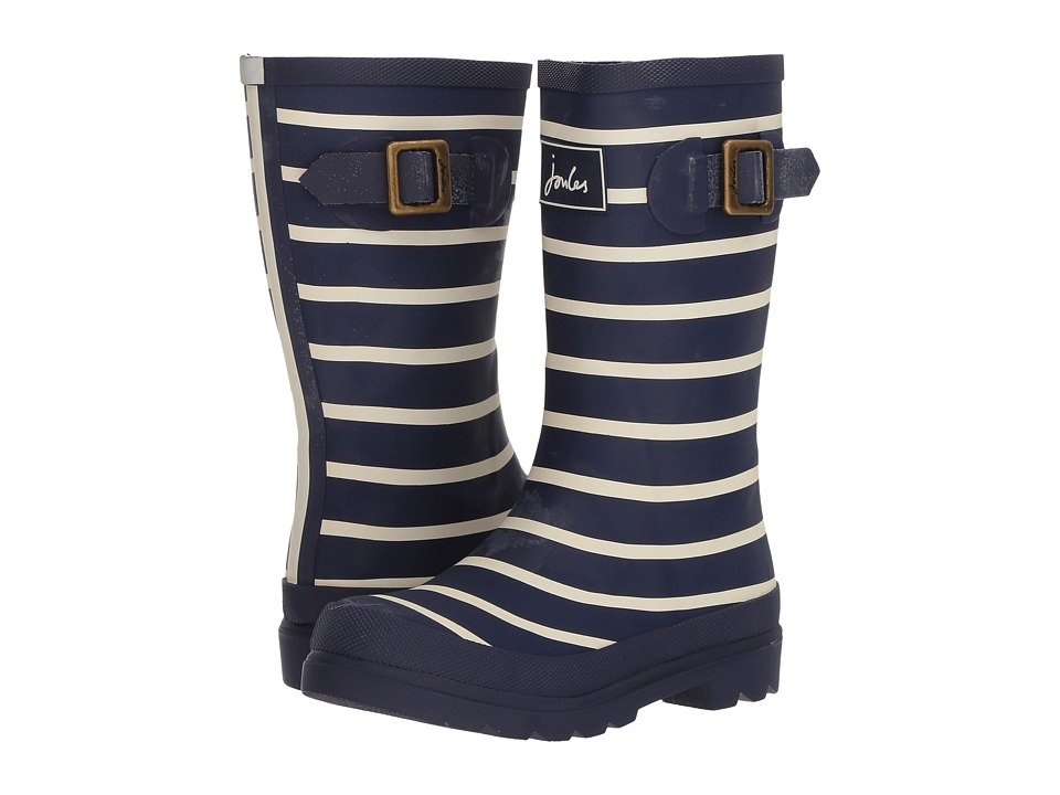 Joules Kids - Printed Welly Rain Boot (Toddler/Little Kid/Big Kid) (French Navy Stripe) Boys Shoes