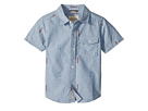 Lucky Brand Kids Chambray Short Sleeve Shirt (Toddler)
