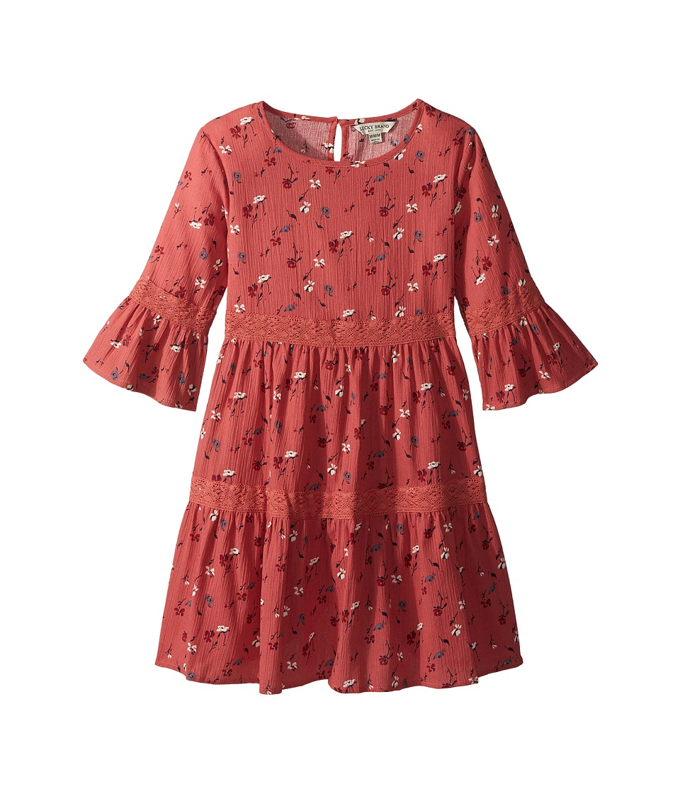 Lucky Brand Kids - Tatiana Dress (Big Kids) (Spiced Coral) Girls Dress