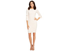 Calvin Klein Sheath Dress with Slit Sleeve and Pearl Detail CD8C14LF
