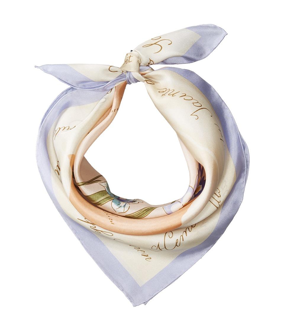 LAUREN Ralph Lauren - Stephanie Silk Square Scarf (Linen) Scarves