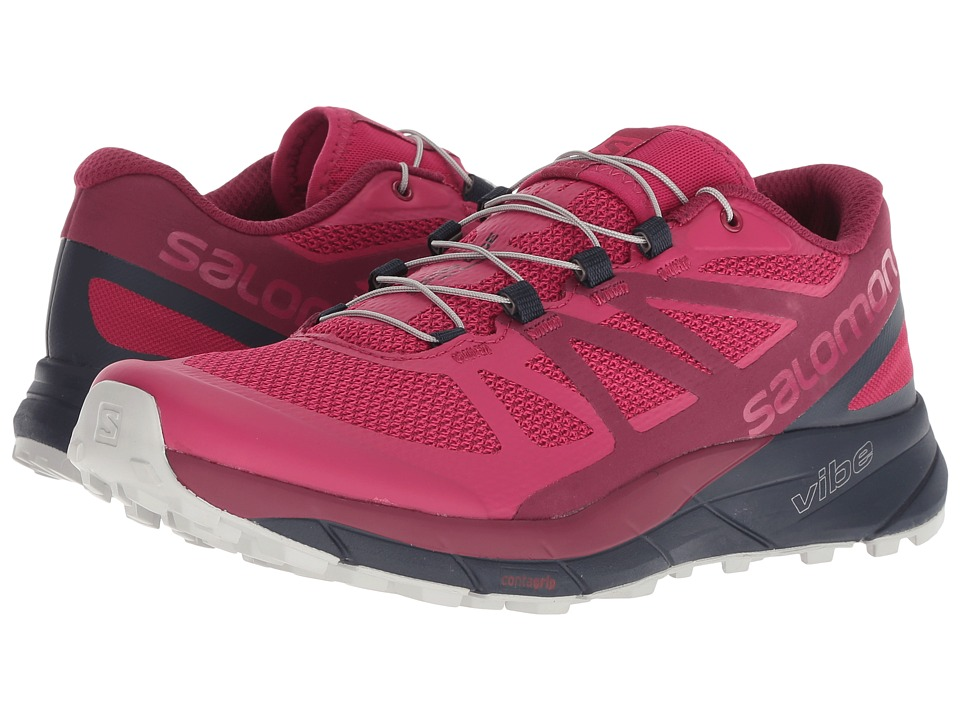Salomon Sense Ride (Cerise/Navy Blazer/Vapor Blue) Women's Shoes