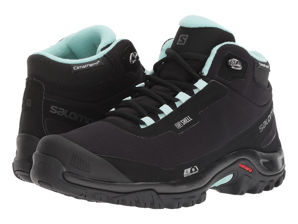 Salomon Shelter CS WP (Black/Black/Eggshell Blue) Women's Shoes