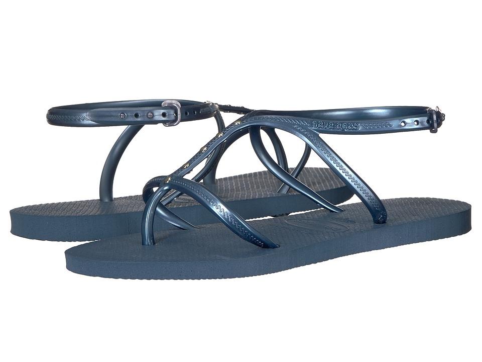 Havaianas - Allure Maxi Flip-Flops (Indigo Blue) Womens Sandals