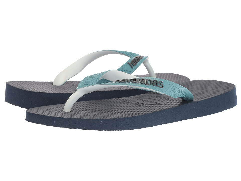 Havaianas - Top Mix Flip Flops (Navy Blue/Mineral Blue) Womens Sandals