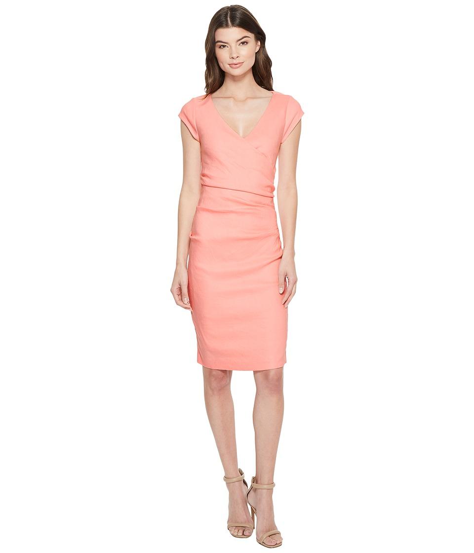 Nicole Miller - Linen Beckett Dress (Petal Pink) Womens Dress