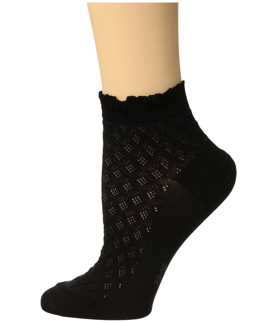 Falke - Dolce Vita Sneaker Sock (Black) Womens Crew Cut Socks Shoes