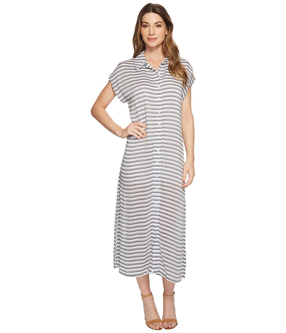 Rachel Pally - Rayon Shirtdress (Blue/White Stripe) Womens Dress