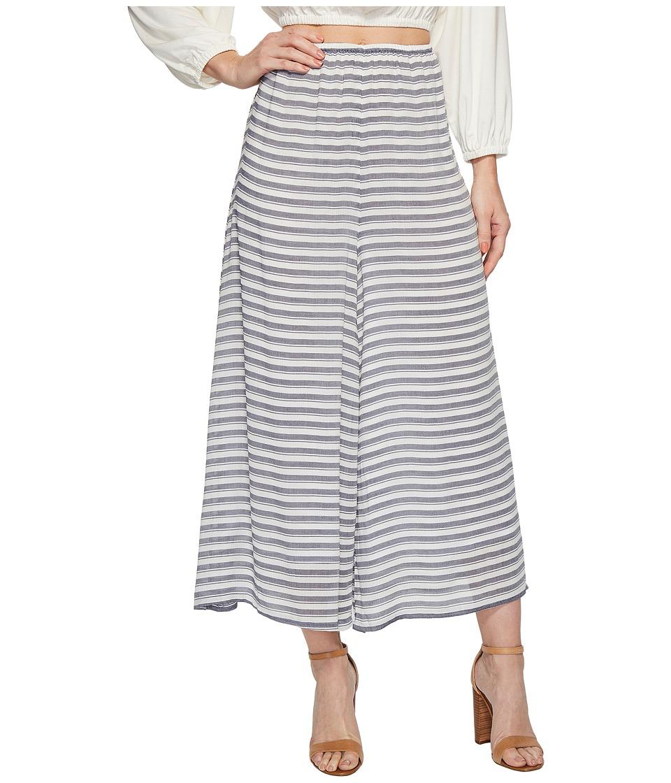 Rachel Pally - Rayon Cropped Pants (Blue/White Stripe) Womens Casual Pants
