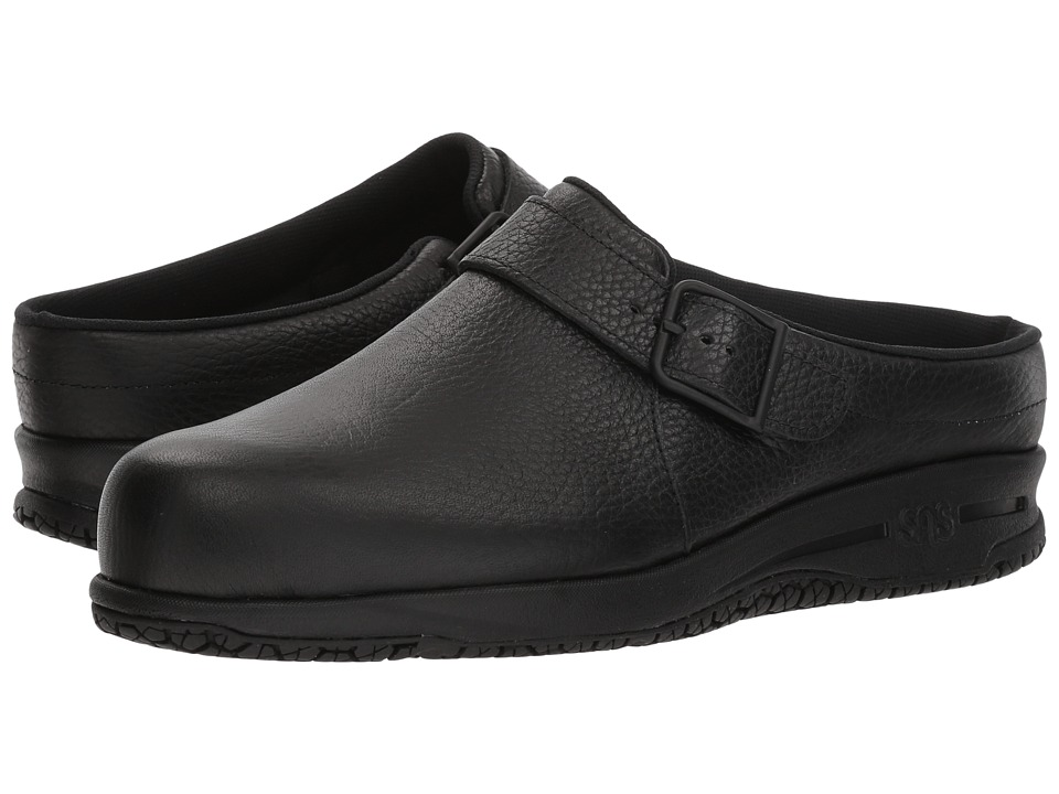 SAS Clog-Slip Resistant (Black) Slip-On Shoes
