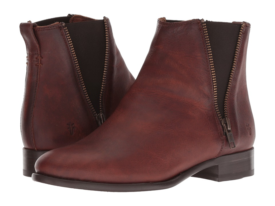 Frye Carly Zip Chelsea (Cognac) Women's Dress Pull-on Boots
