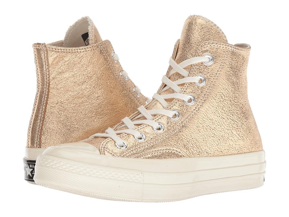 Converse Chuck 70 - Heavy Metals Hi (Gold/Gold/Egret) Women's Shoes
