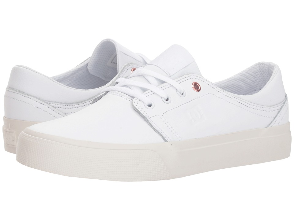 DC Trase LE (White/White) Women's Skate Shoes