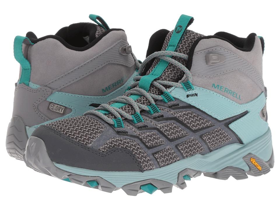 Merrell Moab FST 2 Mid Waterproof (Frost/Aquifer) Women's Hiking Boots