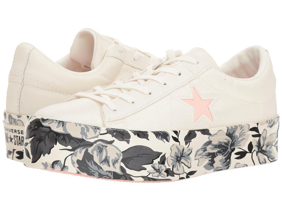 Converse One Star Platform Floral Ox (Egret/Storm Pink/Black) Women's Shoes