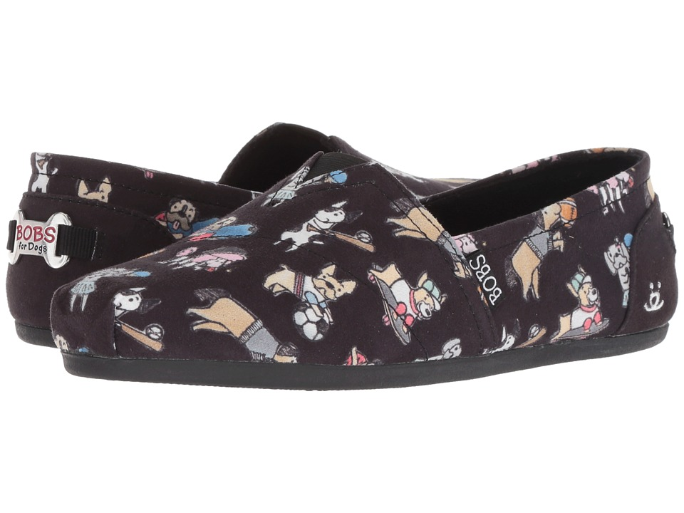 BOBS from SKECHERS BOBS Plush - Go Fetch (Black) Slip-On Shoes