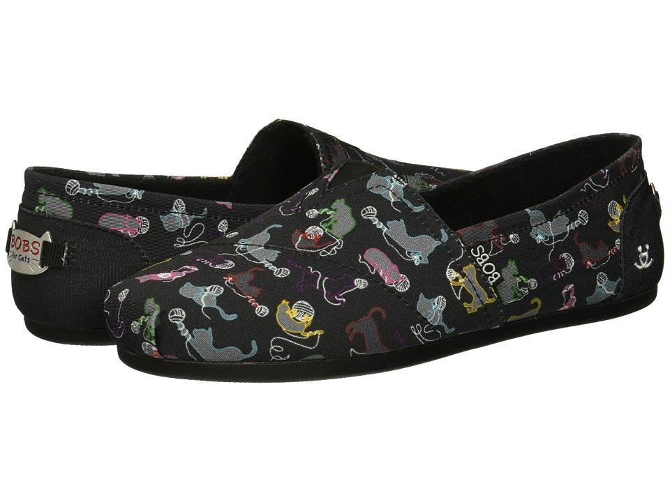 BOBS from SKECHERS BOBS Plush - Ball O (Black Multi) Slip-On Shoes