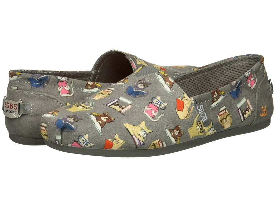 BOBS from SKECHERS BOBS Plush - Studious Cats (Charcoal) Slip-On Shoes