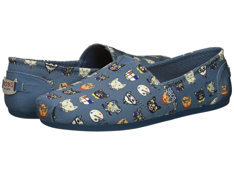 BOBS from SKECHERS BOBS Plush - Art History (Blue) Slip-On Shoes