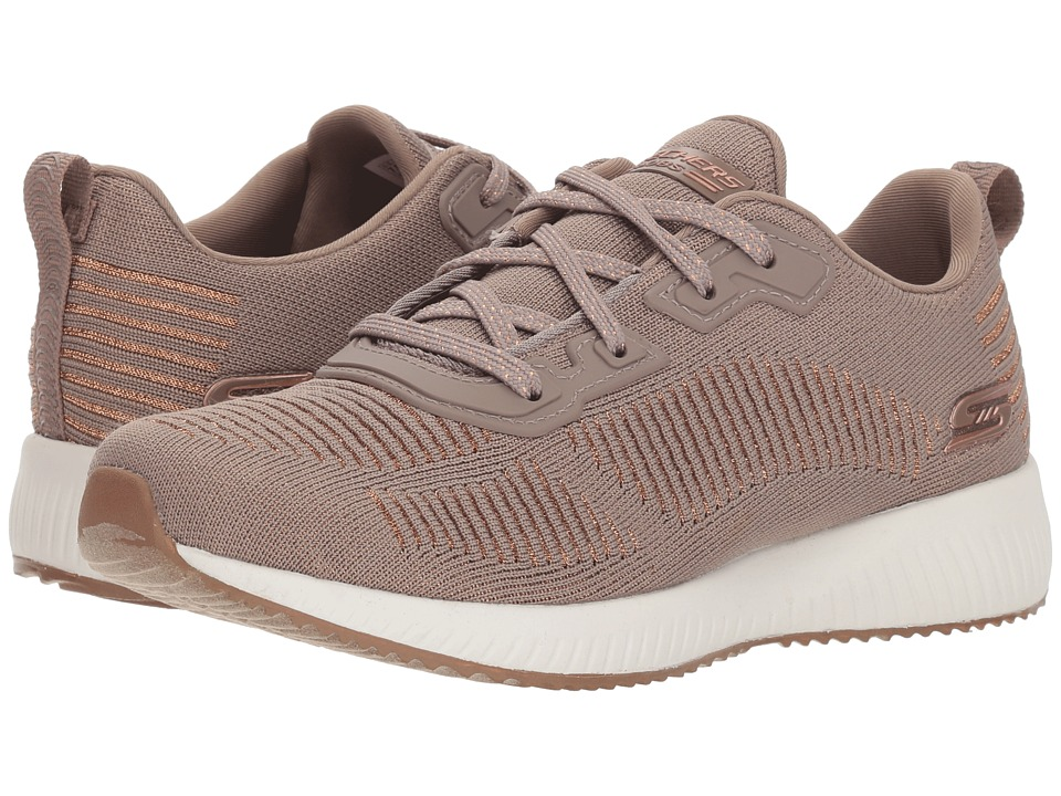 BOBS from SKECHERS Bobs Squad - Glam LE (Taupe) Women's Shoes