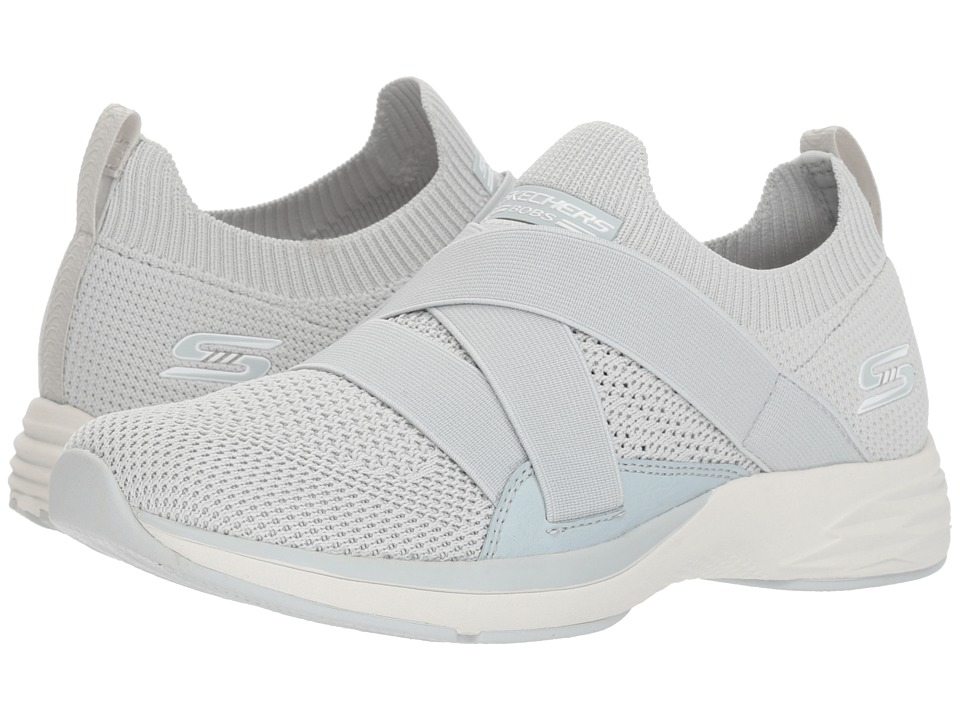 BOBS from SKECHERS Bobs Clique (Light Gray) Women's Shoes