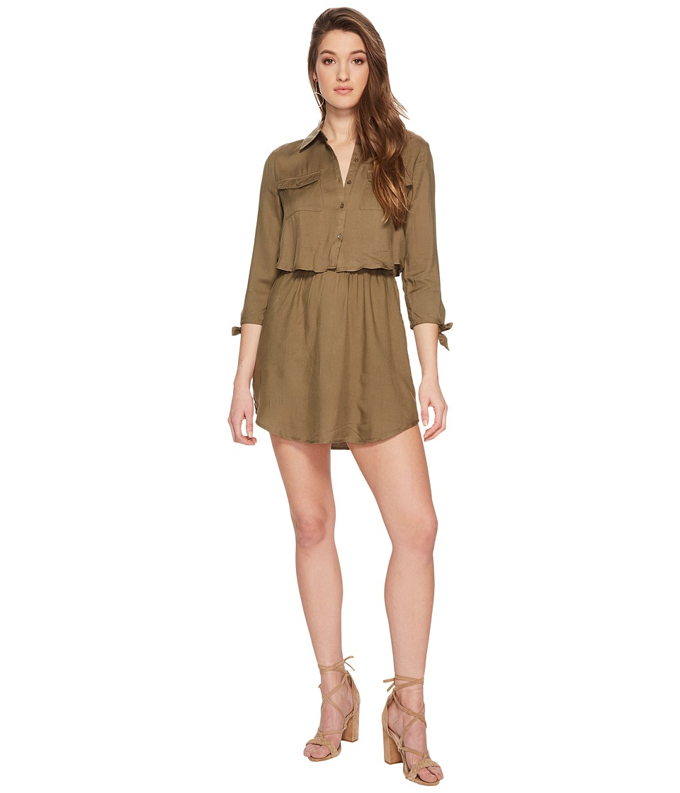 Jack by BB Dakota - Blige Tie Sleeve Dress (Burnt Olive) Womens Dress