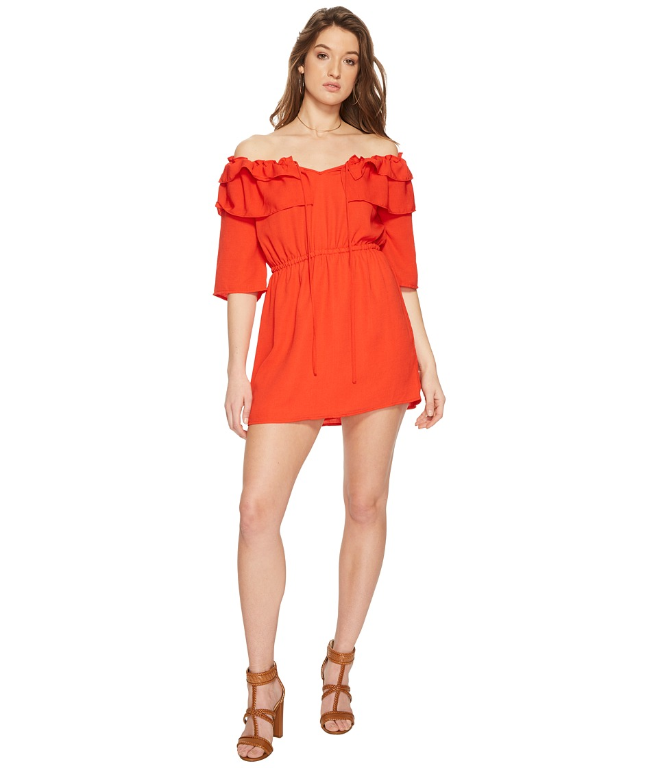 Jack by BB Dakota - Bowser Off the Shoulder Dress (Poppy Red) Womens Dress