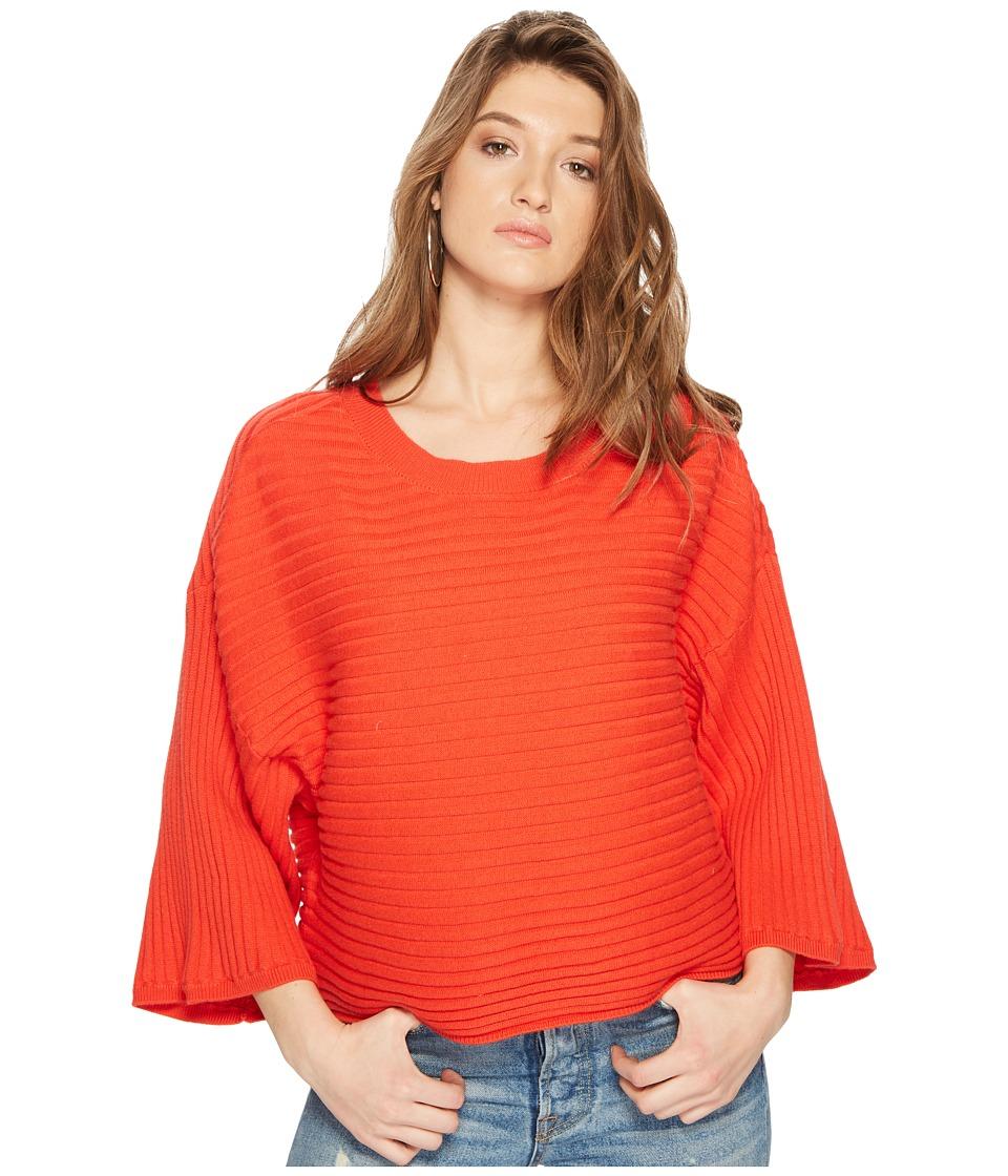 Jack by BB Dakota - Claudel Rib Stitch Wide Rib Sweater (Poppy Red) Womens Sweater